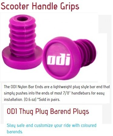 Odi Bar End Plugs For Scooters and BMX Bikes 1 Pair (PINK)