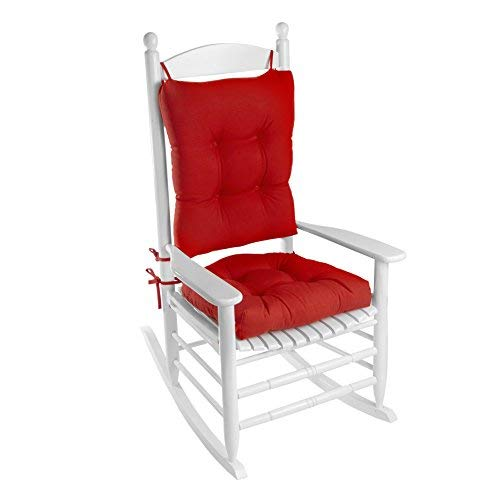 Klear Vu Indoor/Outdoor Rocking Chair Pad Set, 20.5 x 19 x 3 inches, Red