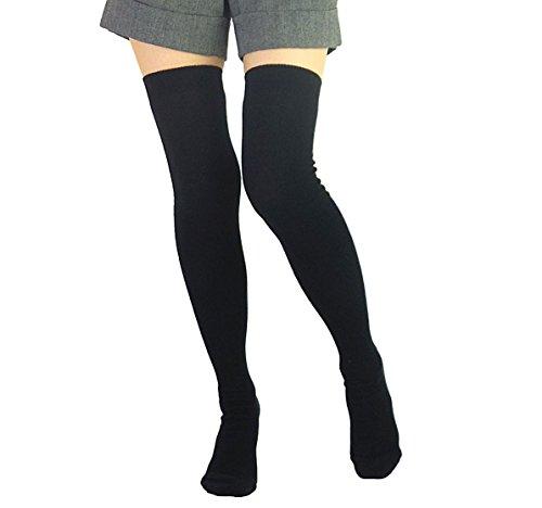 計画広い増幅冷えとり 綿 ニーハイ サイハイ 日本製 【コットン リブのひざ上 靴下】