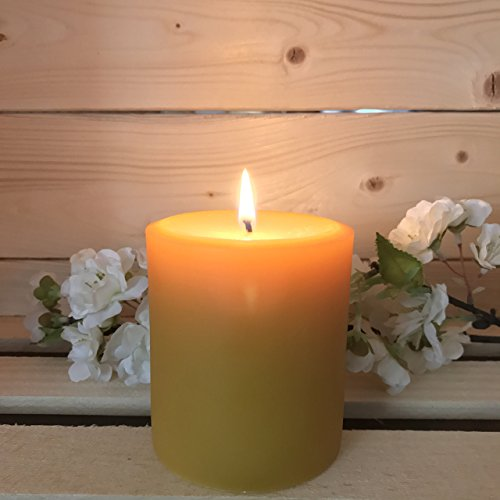Beeswax Pillar Candle (Tennessee Wicks All Natural Unscented Pure Hand Poured Beeswax 3 x 3 Inch Pillar Candle)
