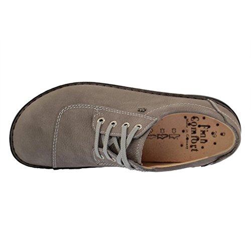 Finn Comfort Lexington- Scarpe Comode / Loose Insert Scarpe Da Donna Comode Scarpe Stringate, Grigio, Pelle (impala) Grigio