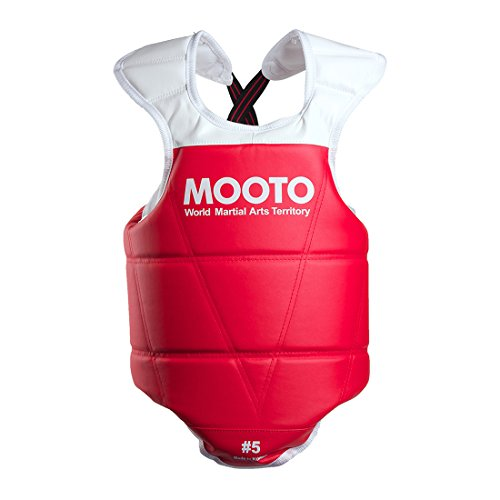 (Mooto WTF Approved Taekwondo Chest Guard Reversible Hogu 1 to 5 (3(160cm-170cm or 5'3