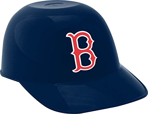 MLB Boston Red Sox Mini Baseball Helmet Snack Bowl, Blue, 8 oz