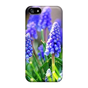 Hot Style FHjpkUD770iFSeL Protective Case Cover For Iphone5/5s(blue Flowers Hd Great Picture Nature)