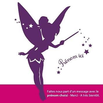 Sticker personnalisable Fée Clochette Violet 47x60 cm  Amazon.fr ... cf906f3fb567
