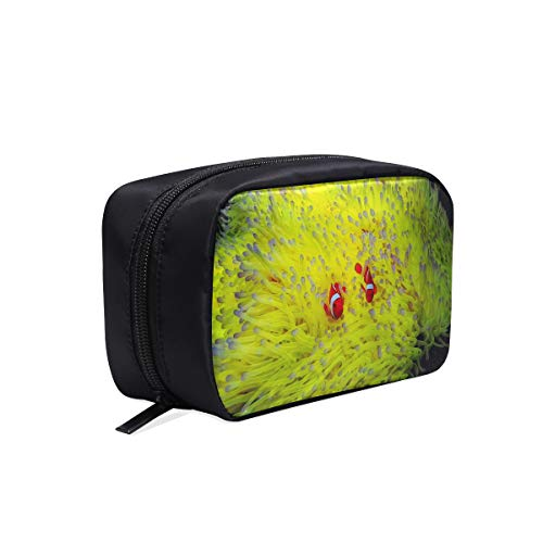Clown Fish Anemone And Clown Portable Travel Makeup Cosmetic Bags Organizer Multifunction Case Small Toiletry Bags For Women And Men Brushes Case