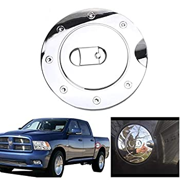 TYGER For 09-15 Dodge Ram 1500//10-15 Dodge Ram 2500//3500 Chrome Fuel Gas Door Cover Chrome Fuel Gas Door Cover by Tyger Auto