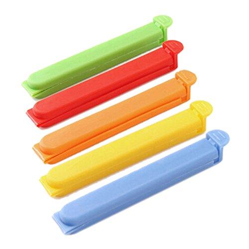 5pcs alimentos bolsa sellador de sello Clip Clamp varillas de sellado de almacenamiento de plástico alimentos frescos...
