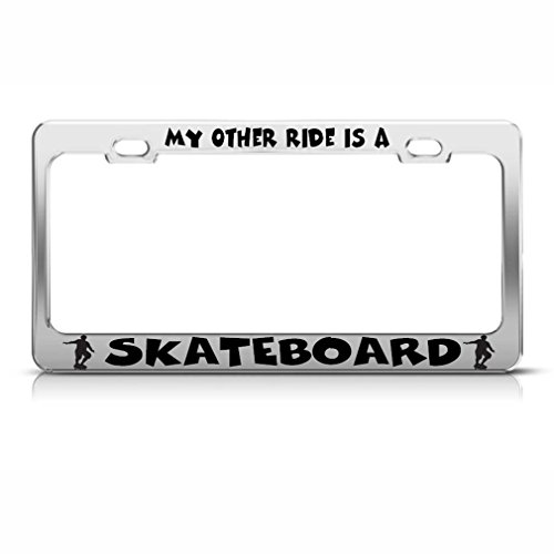 license plate frame skateboard - 7