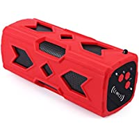 Sicneka Fashion Outdoor Protable Waterproof Stereo Wireless Bluetooth 4.0 Speaker Subwoofer With Built in Mic/3600mAh Power Bank/NFC Function Handsfree Call (Red)