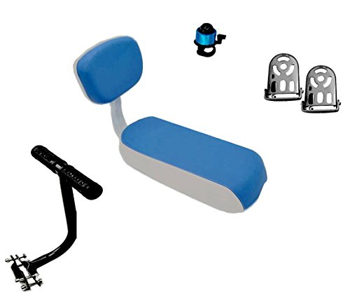 ZHOUWHJJ Universal Bicycle Rear Seat Cushion Armrest Footrest Set, Kid...