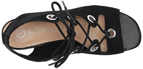 Suede Ingrid Vita Women's Bella Black Wedge Sandal 0HpPqqYw