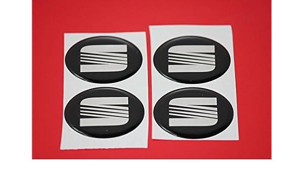 4 x Seat Emblema Llantas Logo Buje Tapa Buje Tapa Tapacubo 4 x 56 mm: Amazon.es: Coche y moto