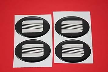 4 x Seat Emblema Llantas Logo Buje Tapa Buje Tapa Tapacubo 4 ...