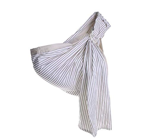 JBHURF Double-Ring Childcare Slings Newborn Baby Cotton Breathable Straps for a Variety of Occasions (Color : Gray Stripes, Size : One Size) - Fiber Ring Nest