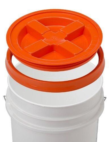 5 Gallon White Bucket & Gamma Seal Lid - Food Grade Plastic