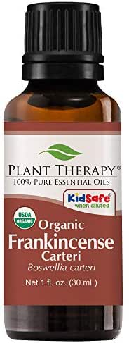 Plant Therapy Frankincense Carteri Organic Essential Oil   100% Pure, USDA Certified Organic, Undiluted, Natural Aromatherapy, Therapeutic Grade   30 milliliter (1 ounce)