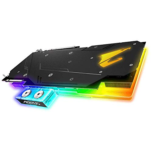 GIGABYTE 2080 8G GDDR6 DisplayPort HDMI 2.0b Type-C with WATERFORCE Cooling RGB Fusion Graphic GV-N2080AORUS X WB-8GC