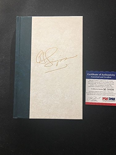 Oj Simpson 'I Want To Tell You' Jail Autographed Signed Le 2871/3000 Leather Bound Book PSA/DNA