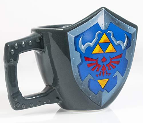 Paladone The Legend of Zelda Hylian Shield Ceramic Coffee Mug - Collectors Edition Shield Shape Cup ()