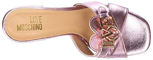 Precio bajo más barato Love Moschino Damen Sabotd.616 / 50 Lamin.pu Rosa Peeptoe Bombas De Color Rosa (rosa) Precio barato Finishline Edición limitada rVyxm7s
