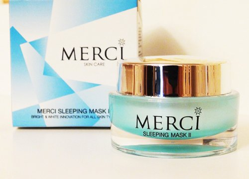 MERCI Sleeping Mask II Bright & White Innovation for All Skin Types 30 G. X 2 Pieces