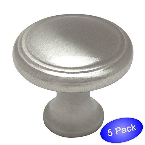 Cosmas 5982SN Satin Nickel Cabinet Hardware Round Knob - 1-1/8