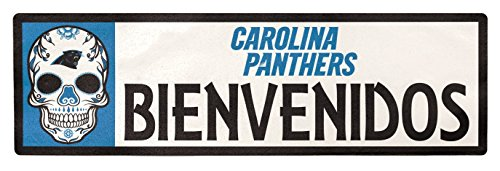 Applied Icon NFL Carolina Panthers Bienvenidos Outdoor Step Graphic Decal
