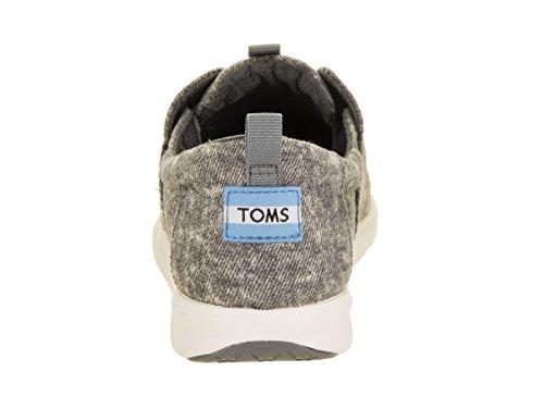 Toms Womens Del Rey Sneakers In Denim Grigio Acciaio Lavato