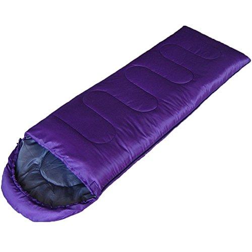 Altcompluser Sac de couchage 3saisons–Forme d'enveloppe avec capuche pour le camping randonnée Trekking (180+ 30) X75cm gauche et à droite