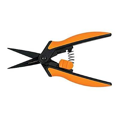 Fiskars Micro-Tip Pruner Non-Stick Blades, Orange/Black (399211-1003) : Garden & Outdoor