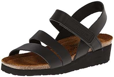 Naot Women's Kayla Sandals,Black Matte Leather,36 M EU