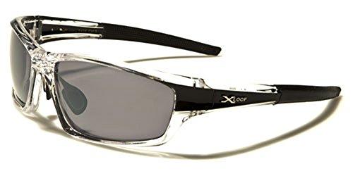 Wrap Around Cycling Ski Baseball Water Sports Sunglasses - Clear & - Watersports Black
