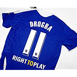 Drogba#11 Chelsea Home Retro Soccer Jersey 2012 Full UCL. Patch