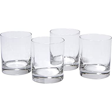 Libbey BASICS Short Glass Set of 4 Glasses, 12.5 Oz