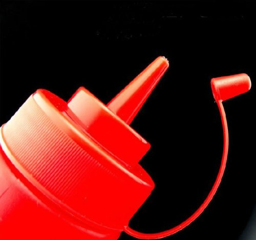 Hot 12/24oz Plastic Squeeze Sauce botttle Dispenser Cap Condiment Oil Ketchup