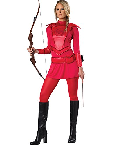 Adult Huntress Costumes (Warrior Huntress Adult Costume Red - Medium)