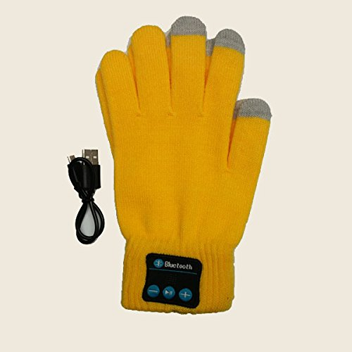 Savage Bluetoothギア ワイヤレス スマートフォン対応手袋 接続しやすいスマートフォンテクノロジー イエロー   B07GZVT2N9