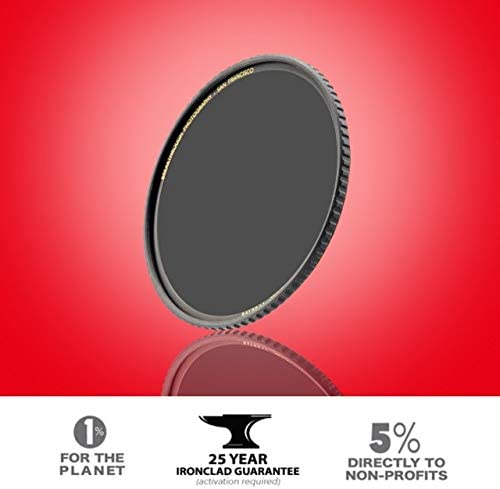 Nanotec UltraSlim Weather-Sealed Breakthrough Photography 55mm X4 10-Stop Fixed ND Filter for Camera Lenses Neutral Density Professional Photography Filter MRC16 Schott B270 Glass