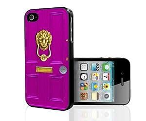 Pink Door with Lion Head Door Knocker Hard Snap on Case(iPhone 5/5s)