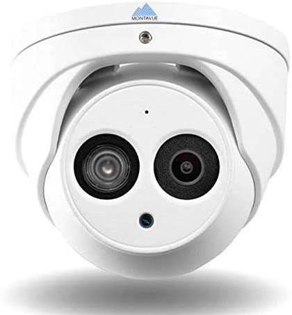 Montavue Professional Security System 8 Channel 4K NVR Color Night Optics 8 4MP Turret//Dome Audio Cameras w// 200ft of HypeIR Night Vision MTIP80828TW