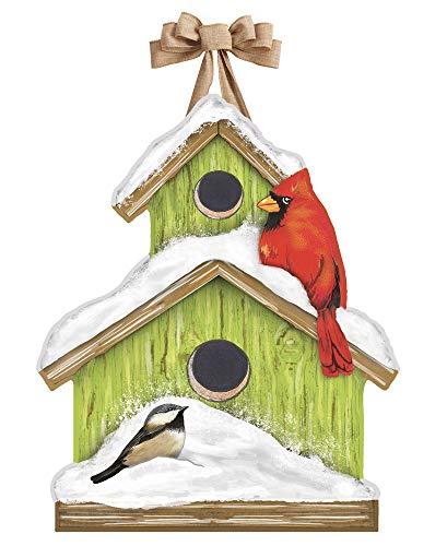 Door Snowman Hanger - Studio M DD1805 Outdoor-Safe Front Door Décor, 15.75 x 19.25, Winter Home