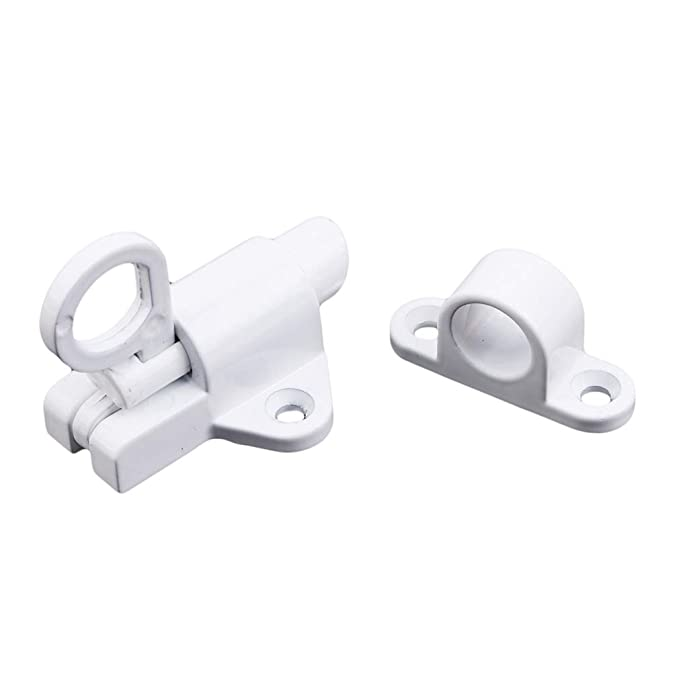 Weiy Serrure Automatique de verrou de Porte de verrou de Ressort Automatique de verrou de Ressort avec des verrous de Porte de s/écurit/é pour des Meubles de fen/être de Toilette Noir