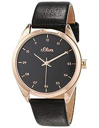 s.Oliver SO-3733-LQ - Reloj analógico de cuarzo para mujer con correa de piel