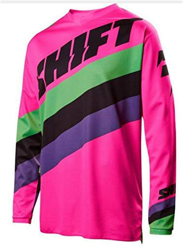 Men's Cycling Jersey Long Sleeve Shirts Bike Bicycle Breathable Riding Sports Jerseys(Pink-4XL) (Best Motorcycle Riding Jackets In India)