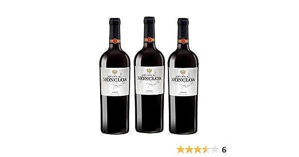 Finca Moncloa Syrah & Cabernet Sauvignon - Vino VT Cádiz - 3 Botellas de 750 ml - Total : 2250 ml