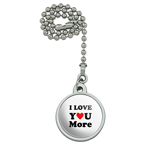I Love You More with Heart Ceiling Fan and Light Pull Chain