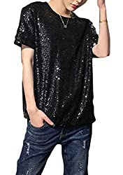 Men's Short Sleeve Sequins T-Shirt