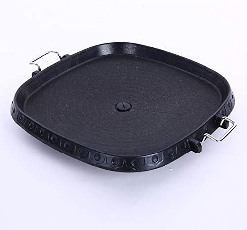 Boîte de gril de cuisinière à gaz de 32 cm carré Maifan revêtement de pierre Garden Party en plein air pique-nique plage coréenne plaque de barbecue en aluminium antiadhésif