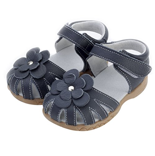 LOSORN ZPY Mädchen Baby Kinderschuhe Sommer Sandalen mit Blumen Prinyessin Leder Schuhe Dunkel Blau